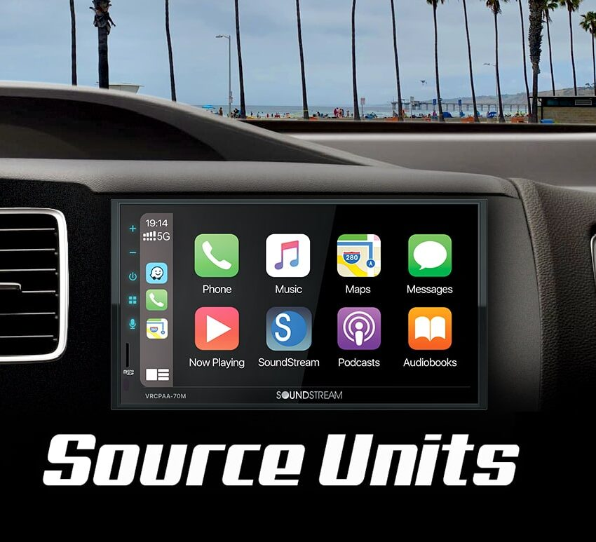 Soundstream Technologies Android Auto and CarPlay Radios Source units
